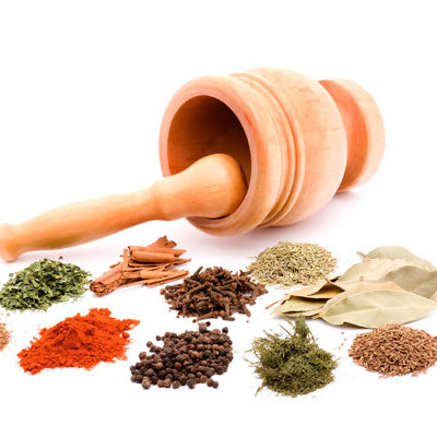 mortar and spices
